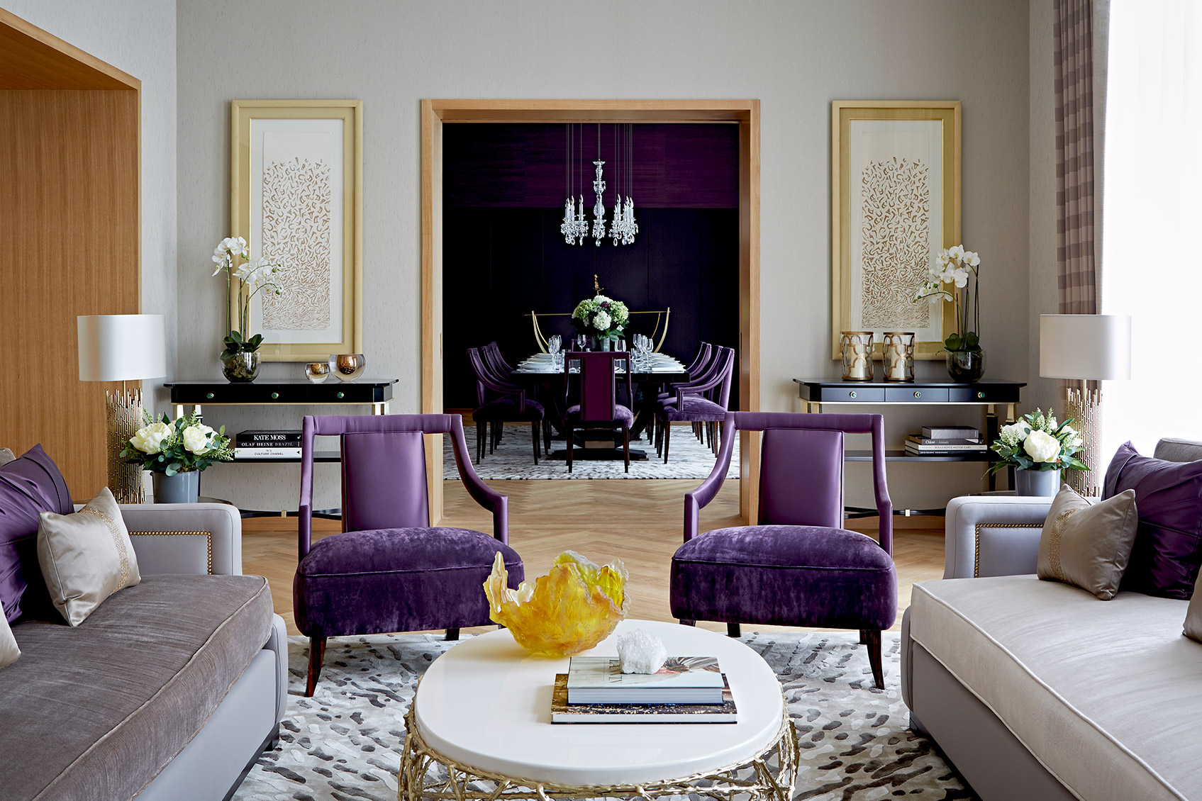 ultra violet combined with velvet upholstery padstyle.com