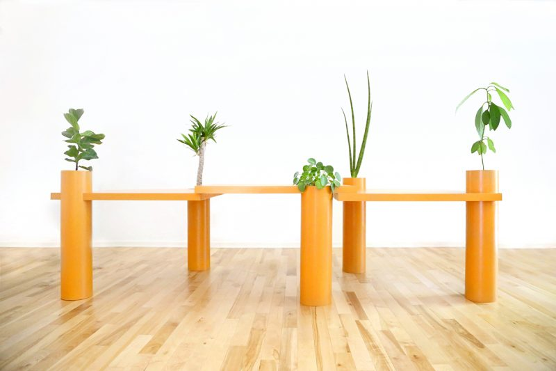 after architecture grow on me tables modular multi-purpose dining tables with pivot function and household plants padstyle.com
