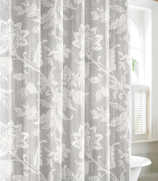 floral spring print shower curtain padstyle.com