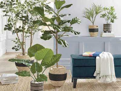 Image result for faux plants interior design