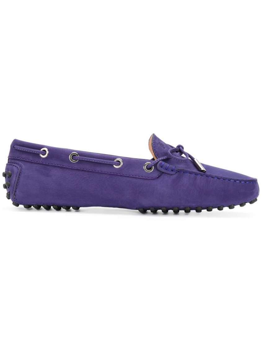 ultra violet suede penny loafers padstyle.com
