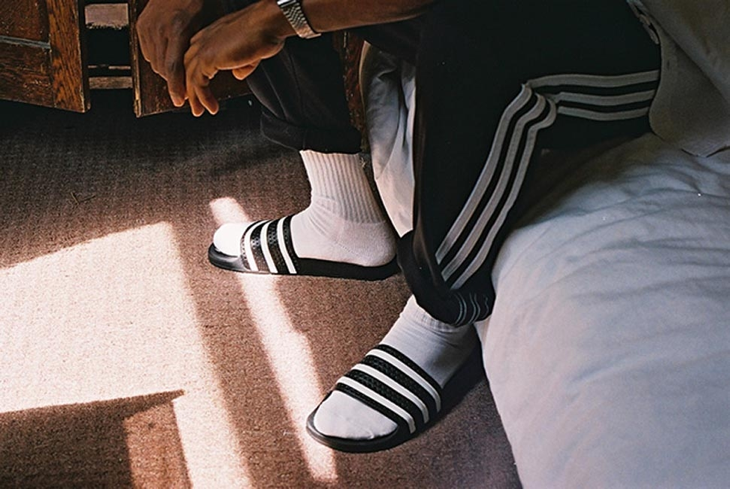Image result for socks with adidas sandals dad