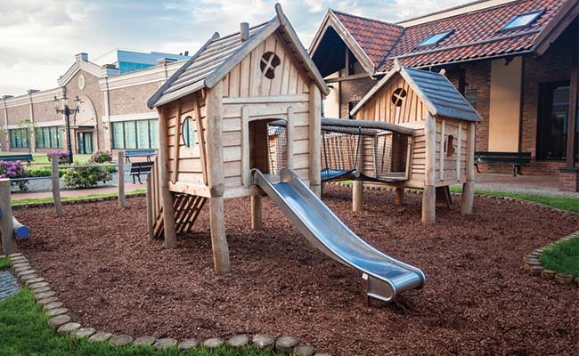 Image result for cypress tree mulch playground