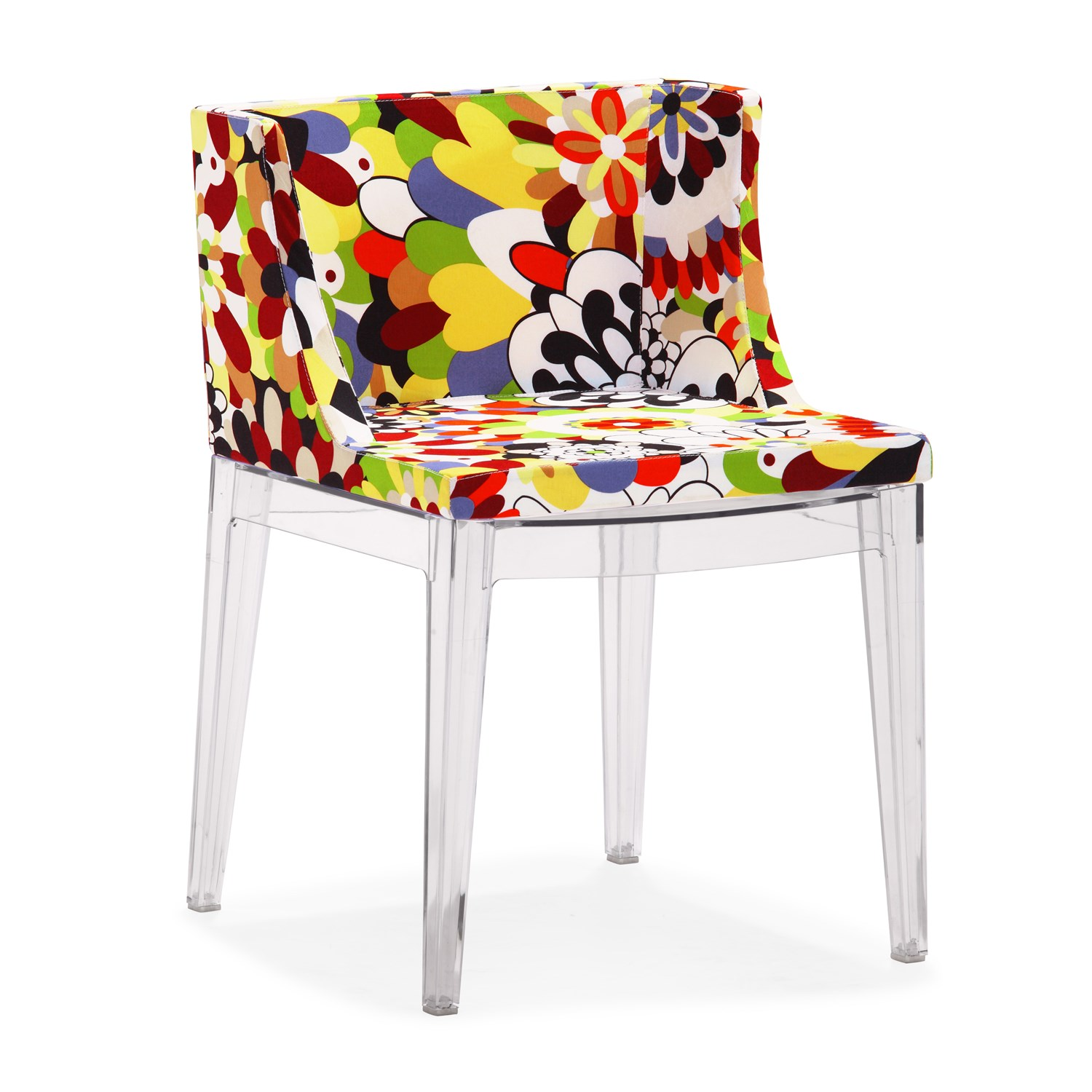This Funky Chair Is Fully Covered In A Soft Fabric Upholstery Padded With  Plush Cushioning. The Pattern Is Like A Mixture Of Pop Art With A Classic  Floral ...