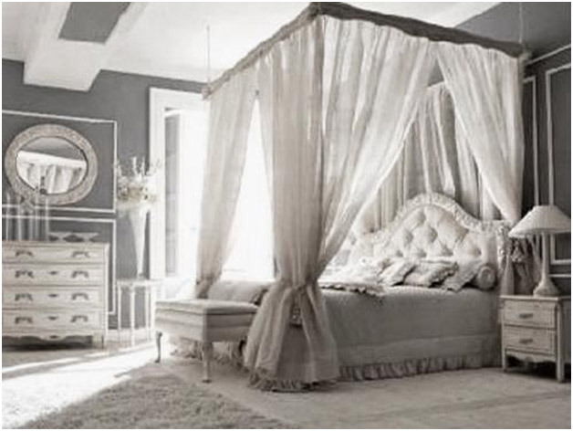 Canopy beds provide a luxurious look to your bedroom decor while also  serving as a elegant divider.