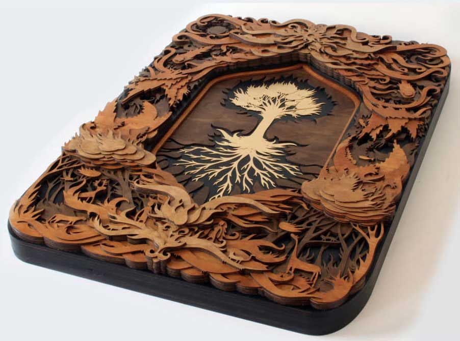 wood etching wall art padstyle.com