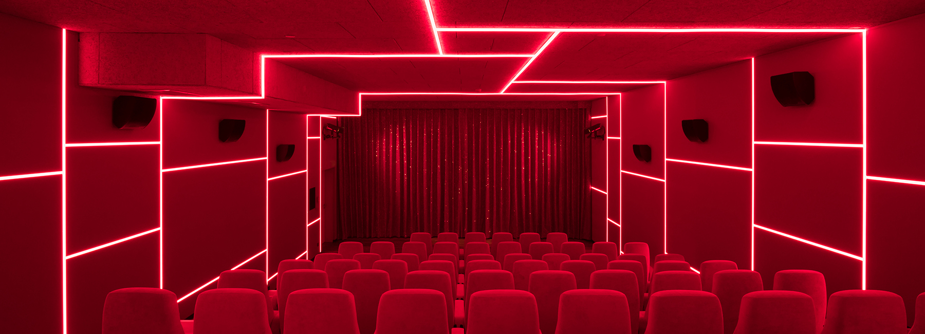 bruzkus batek's cinema in berlin is designed as a series of artpieces
