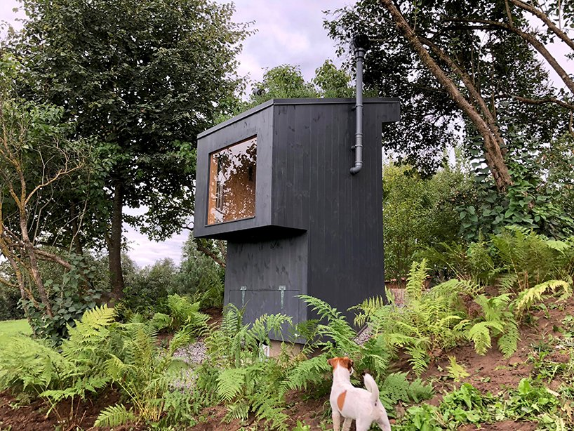 zeltini studio's wooden 'temple of poop' is a compost toilet with a view designboom