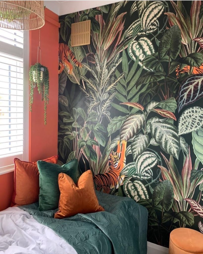 design trend 2021 bold wallpaper accent walls padstyle.com