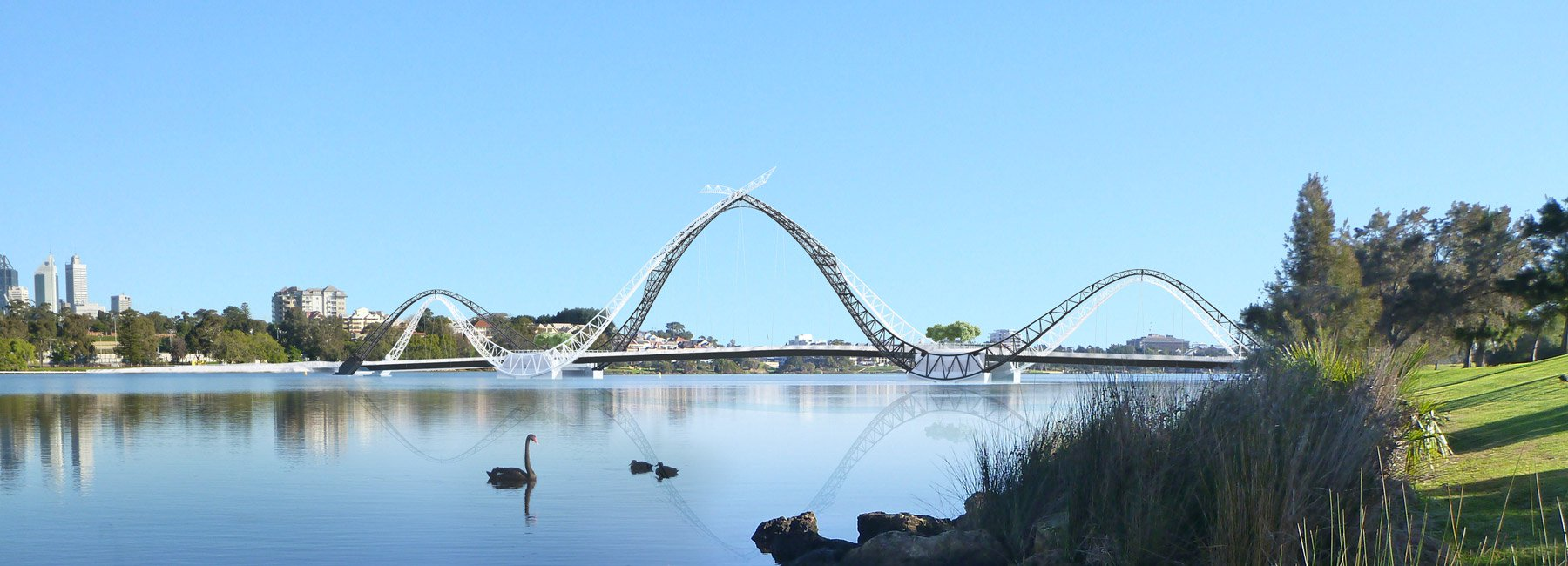 australia's matagarup bridge engages its landscape in a sequence of unfolding vistas