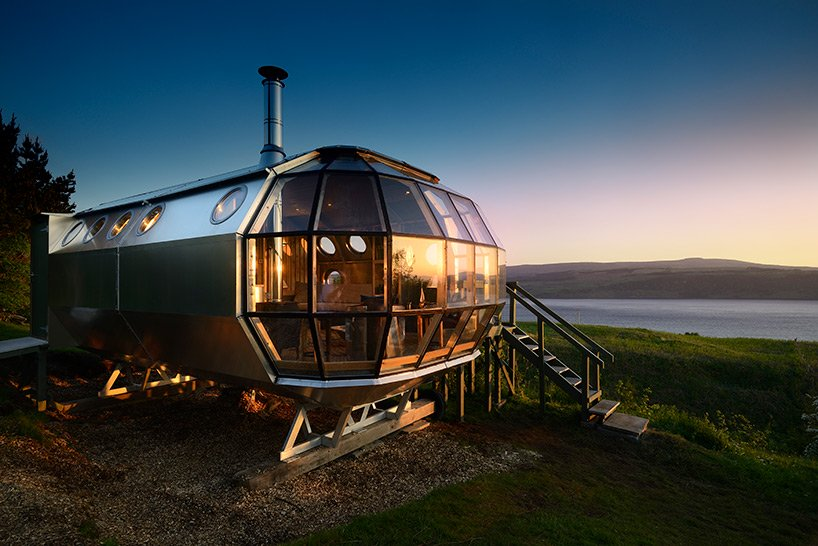 airbnb's latest listing is a double-glazed airship-like cabin in scotland