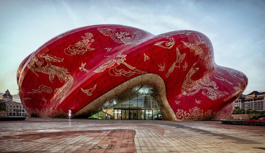Steven Chilton Architects silk cloth theater china padstyle