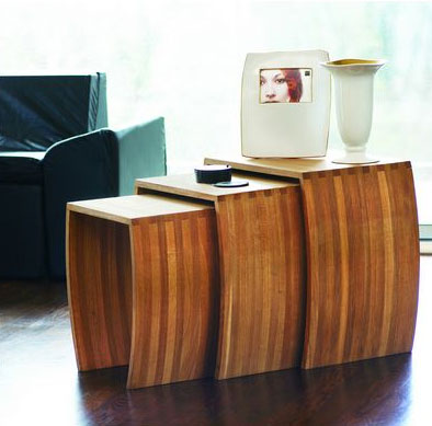 Nestle nesting tables padstyle interior design blog modern nestle nesting tables watchthetrailerfo