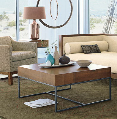 Patterned Veneer Coffee Table PadStyle Interior Design Blog - West elm square table