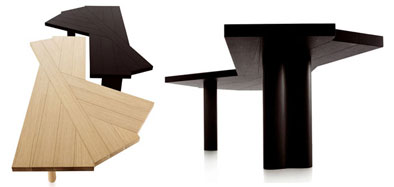 Designer dining tables padstyle interior design blog for Unusual shaped dining tables