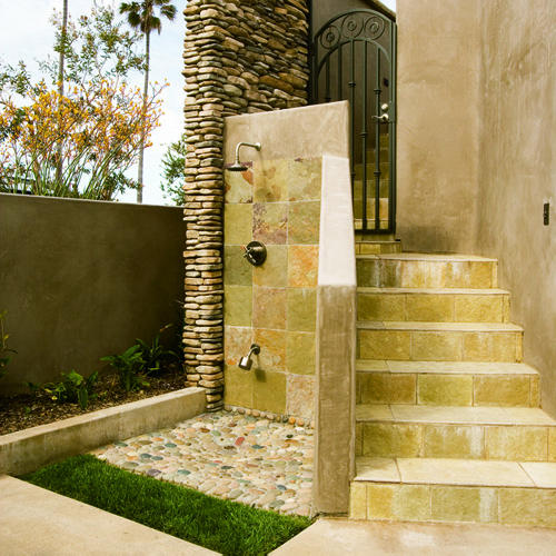 there - How To Build An Outdoor Shower