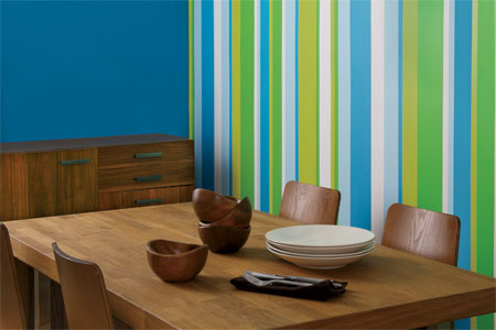 Painting Stripes on a wall – PadStyle   Interior Design Blog ... on interior garage paint designs, interior door paint color ideas, interior design living room paint,